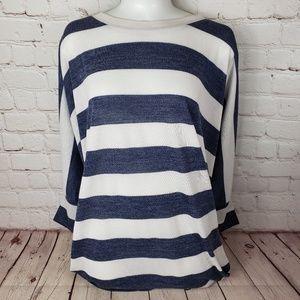 High Call Nautical Stripes Winged Medium Sweater